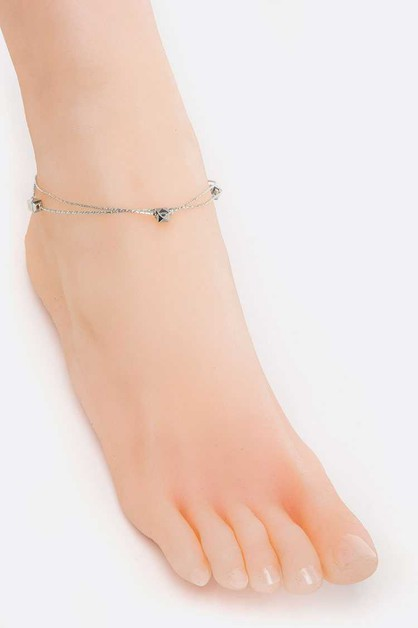Metal Beads Anklet - orangeshine.com