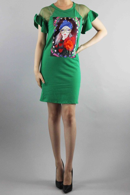 Graphic Dress - orangeshine.com