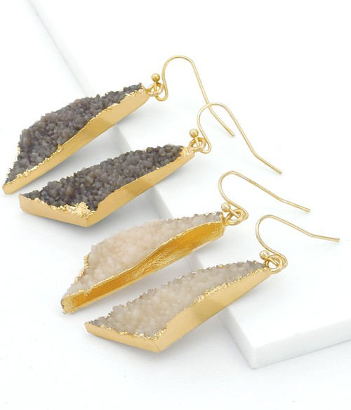 Steph Druzy Drop Earrings - orangeshine.com