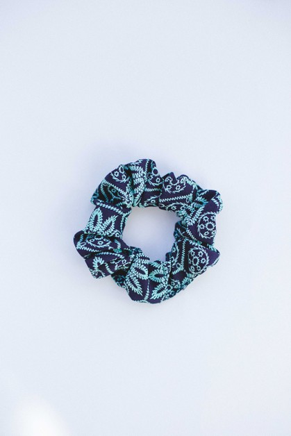 Green Holiday Hair Scrunchie - orangeshine.com