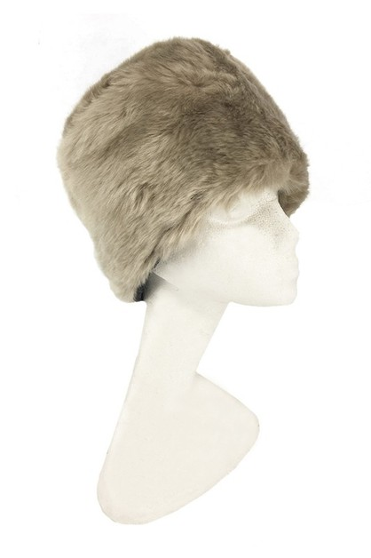 Fur fashionable hat beanie - orangeshine.com
