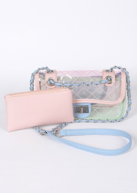 Clear Vinyl Soft Clutch with Pouch - orangeshine.com