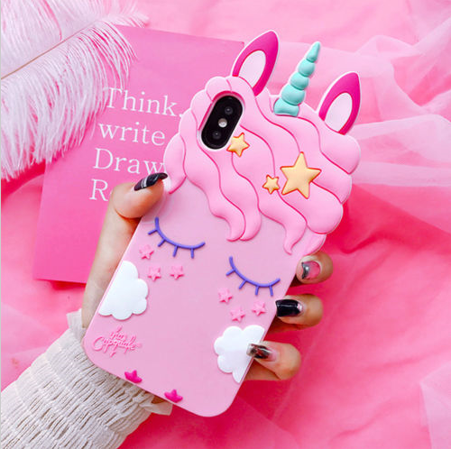 IPHONE XR - 3D Unicorn Silicone Case - orangeshine.com