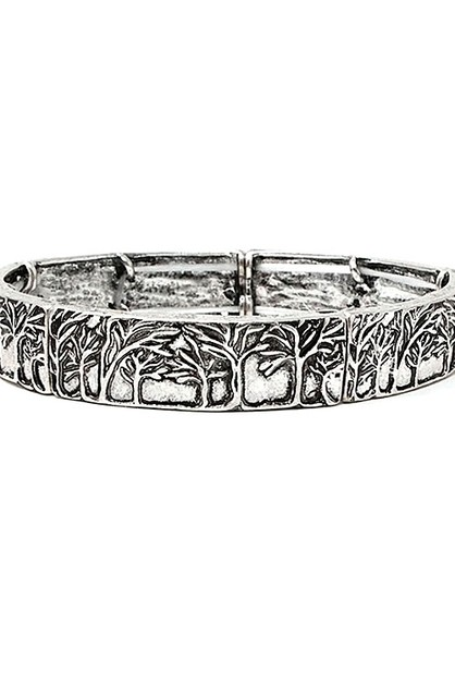 Tree Of Life Metal Stretch Bracelet  - orangeshine.com