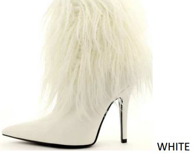 Stiletto Pointed Toe Fur Booties - orangeshine.com