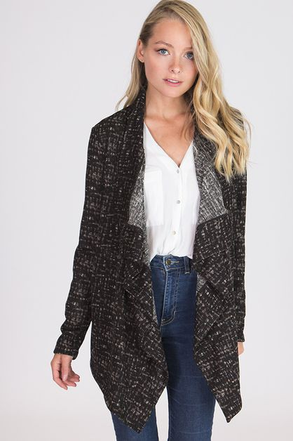 CASCADING SWEATER KNIT CARDIGAN - orangeshine.com