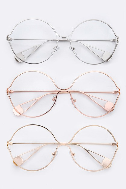Iconic Oversize Clear Lens Optical  - orangeshine.com