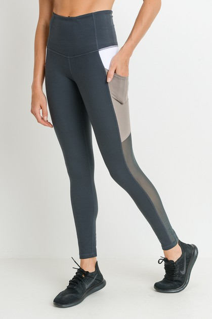 Colorblock Deep Pockets Full Legging - orangeshine.com