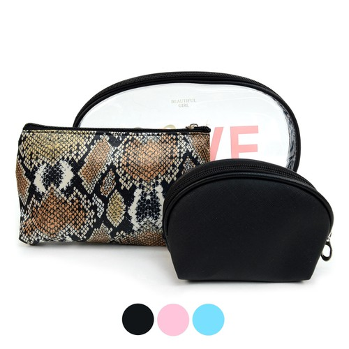 Ladies Love Cosmetic Bag 3pc Set  - orangeshine.com