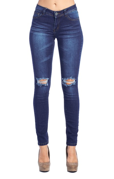 Ripped Skinny Jeans for Women - orangeshine.com