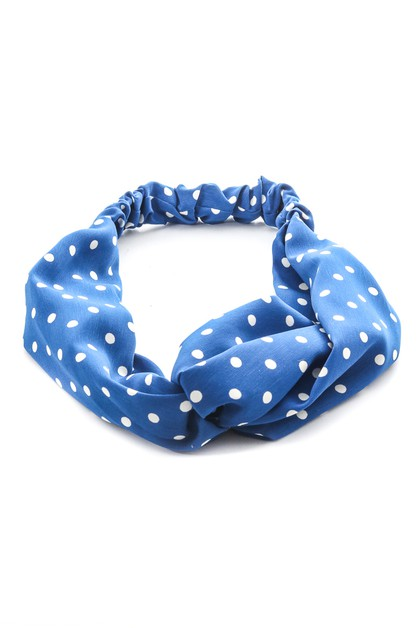 Soft Polka Dot Twisted Headband - orangeshine.com
