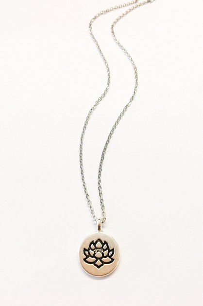 lotus necklace - orangeshine.com
