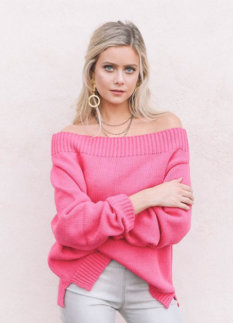 FUCHSIA SWEATER  - orangeshine.com