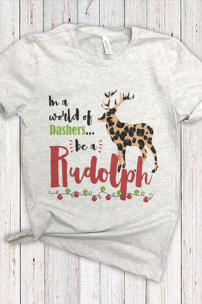 Be A Rudolph Soft Tee - orangeshine.com