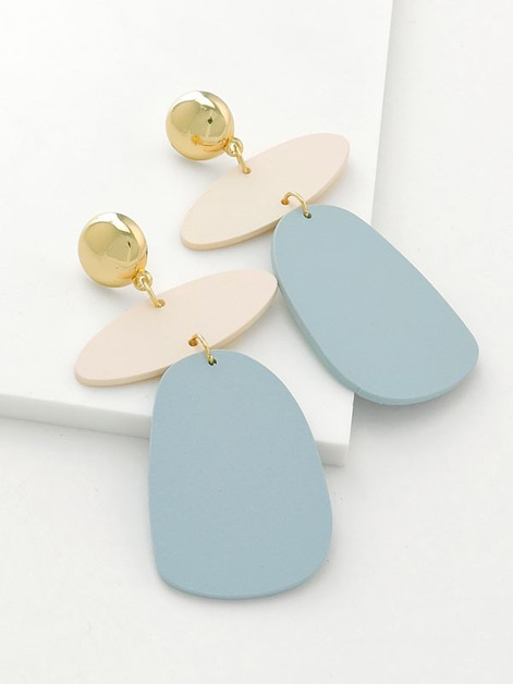 Stacked Shape Drop Earrings - orangeshine.com