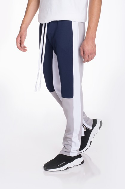 COLOR BLOCK TRACK PANTS - orangeshine.com