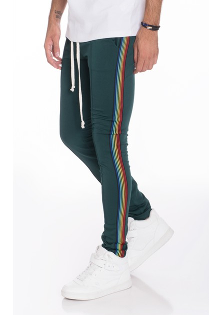 BLACK RAINBOW TRACK PANTS - orangeshine.com