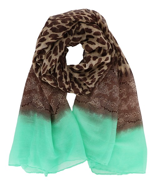Leopard and Lace Oblong Scarf - orangeshine.com