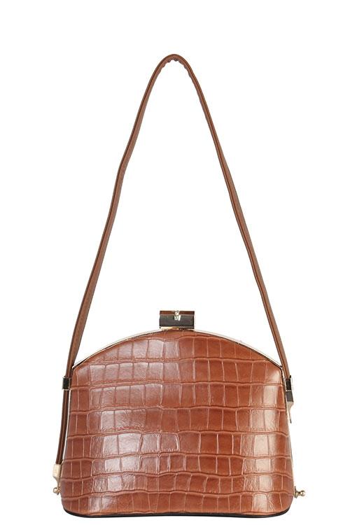 5325095552 ANDREA BIJOUX Wholesale Designer Croc Messenger Bag