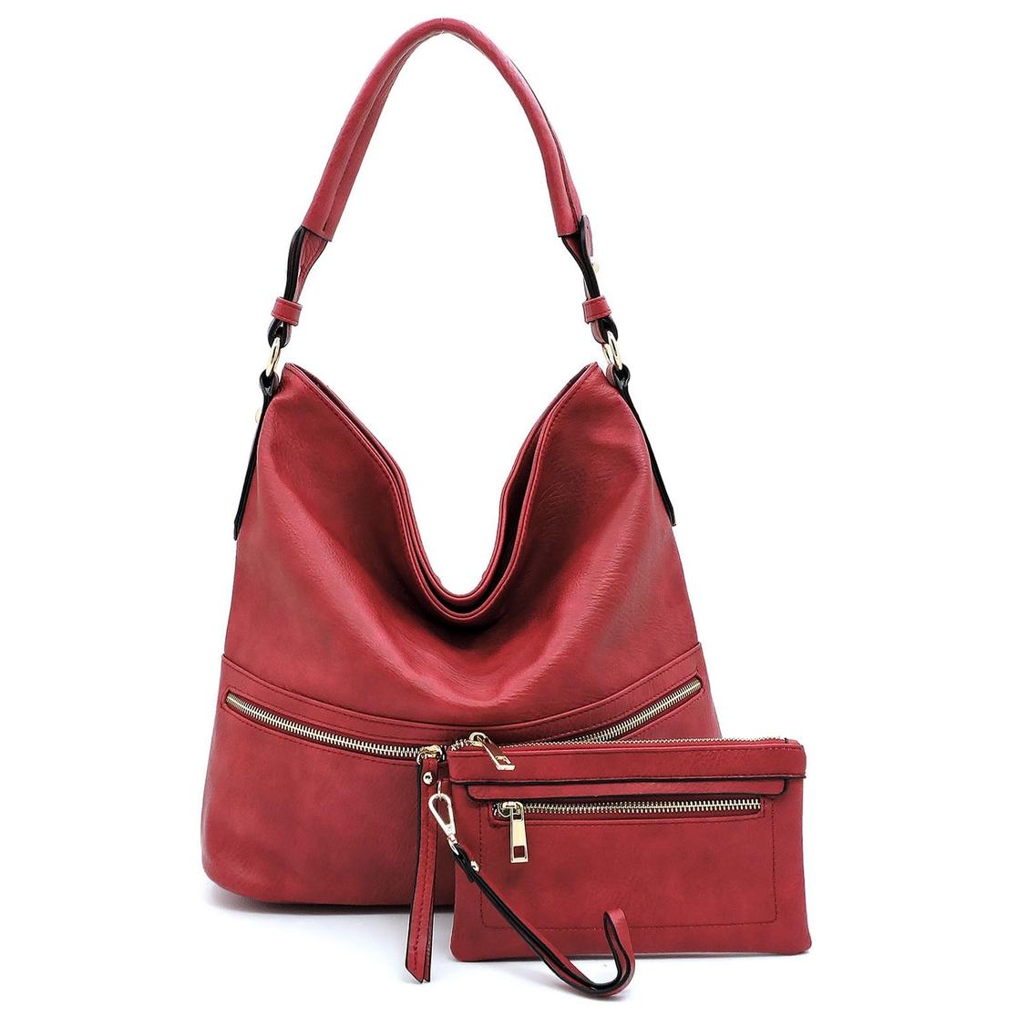 de360996d8 FASHION BRIDGE - Fashion Zipper 2-In-1 Shoulder Bag