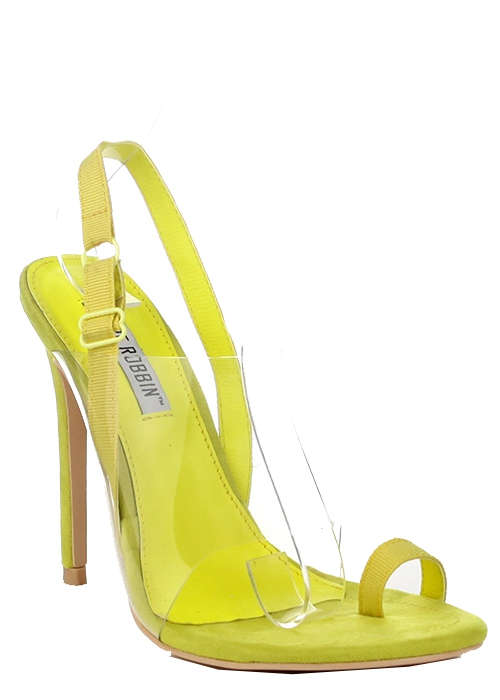 THONG OPEN HIGH HEEL CLEAR STRAP WIT - orangeshine.com