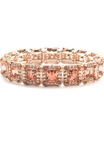 Rhinestone Evening Stretch Bracelet  - orangeshine.com