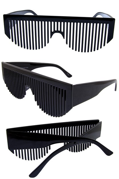 Women brush novelty lensless eyewear - orangeshine.com