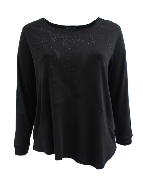 Black Long Sleeve Sweater Plus Size - orangeshine.com