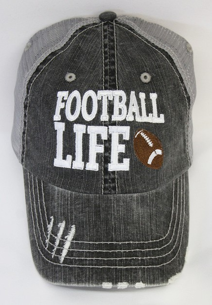Football Life Ball Cap - orangeshine.com