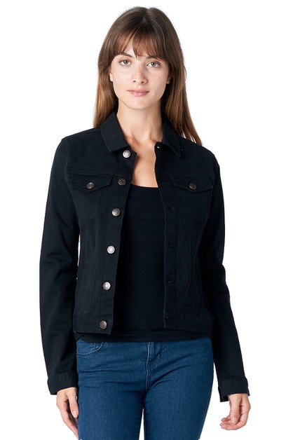 LADY DENIM COLOR JACKET - orangeshine.com