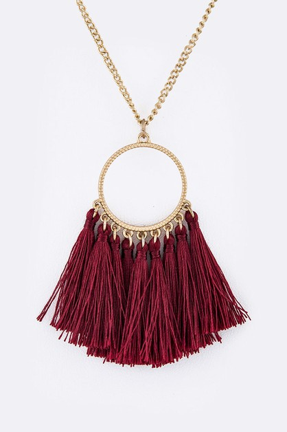 Tassel Pendant Necklace - orangeshine.com