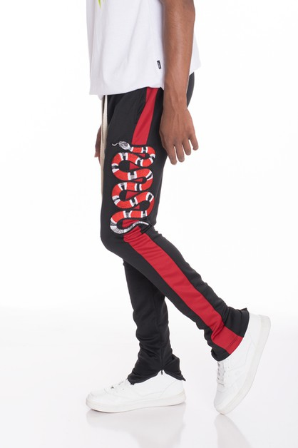 Snake Patched Track Pants - orangeshine.com