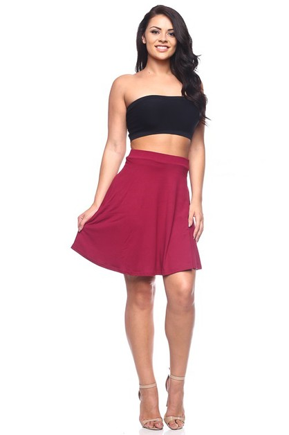 Plus Size Skater Skirt - orangeshine.com