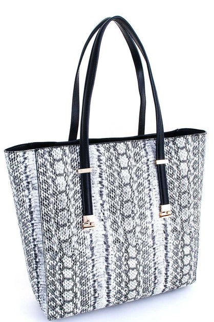 Luxury Chic Snake Pattern Tote Bag - orangeshine.com