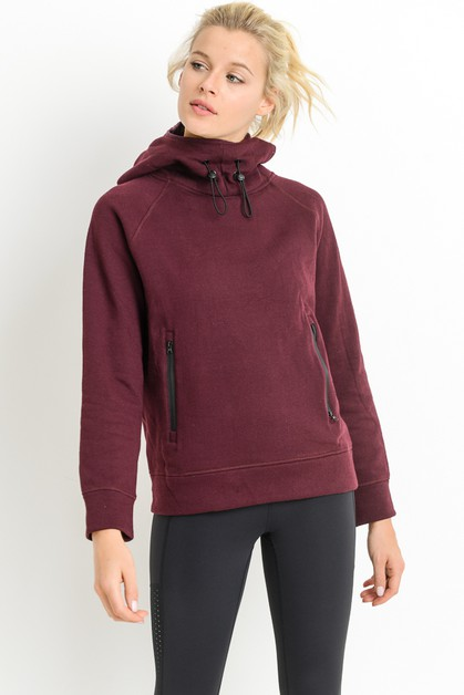 Turtle Neck Hoodie Pullover Jacket - orangeshine.com