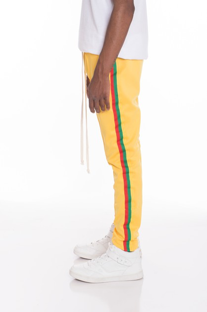 RASTA TAPED TRACK PANTS - orangeshine.com