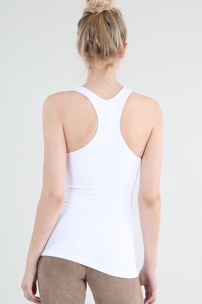 Ribbed Racer Back Tank - orangeshine.com