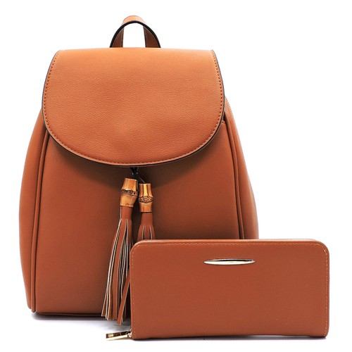 Bamboo Tassel Flap 2-in-1 Backpack - orangeshine.com
