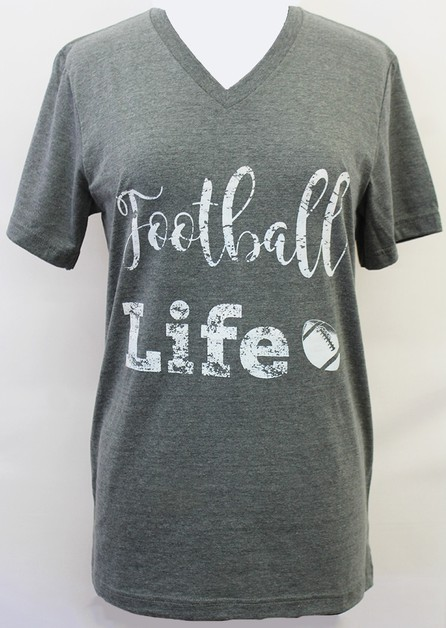 Football Life V-Neck - orangeshine.com