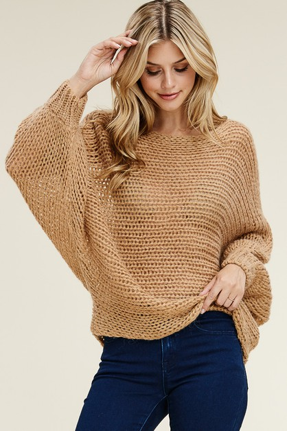 Dolman Sleeve Relaxed Pullover - orangeshine.com