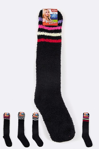 Knee High Plush Socks - orangeshine.com