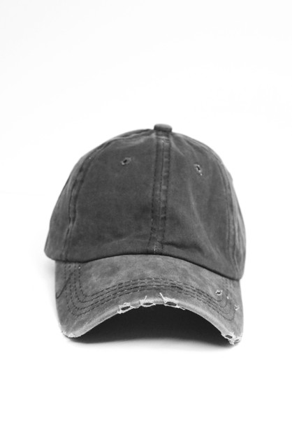 Washed cotten vintage baseball cap - orangeshine.com