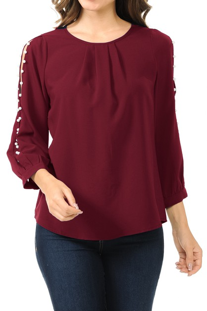 Women plus size split shoulder blous - orangeshine.com