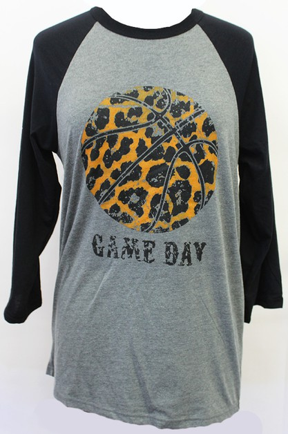 Basketball Game Day Raglan - orangeshine.com