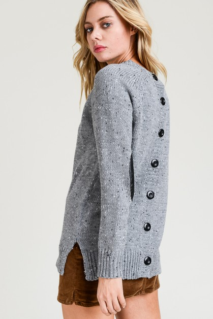 Button Up Sweater - orangeshine.com