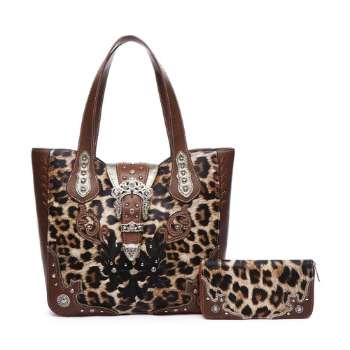 Zebra Buckle Tote Bag and Wallet - orangeshine.com