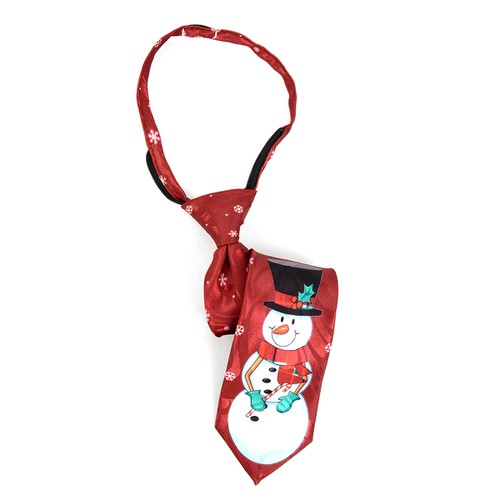 Boys Christmas Snowman Zipper Tie - orangeshine.com