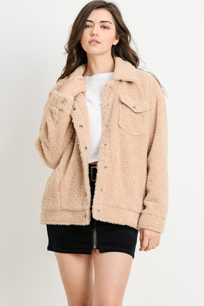 Faux Fur Trucker Jacket - orangeshine.com