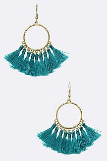 Tassel Hoop Earrings - orangeshine.com