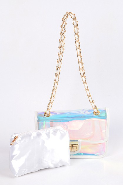 Shiny Clear Clutch. - orangeshine.com